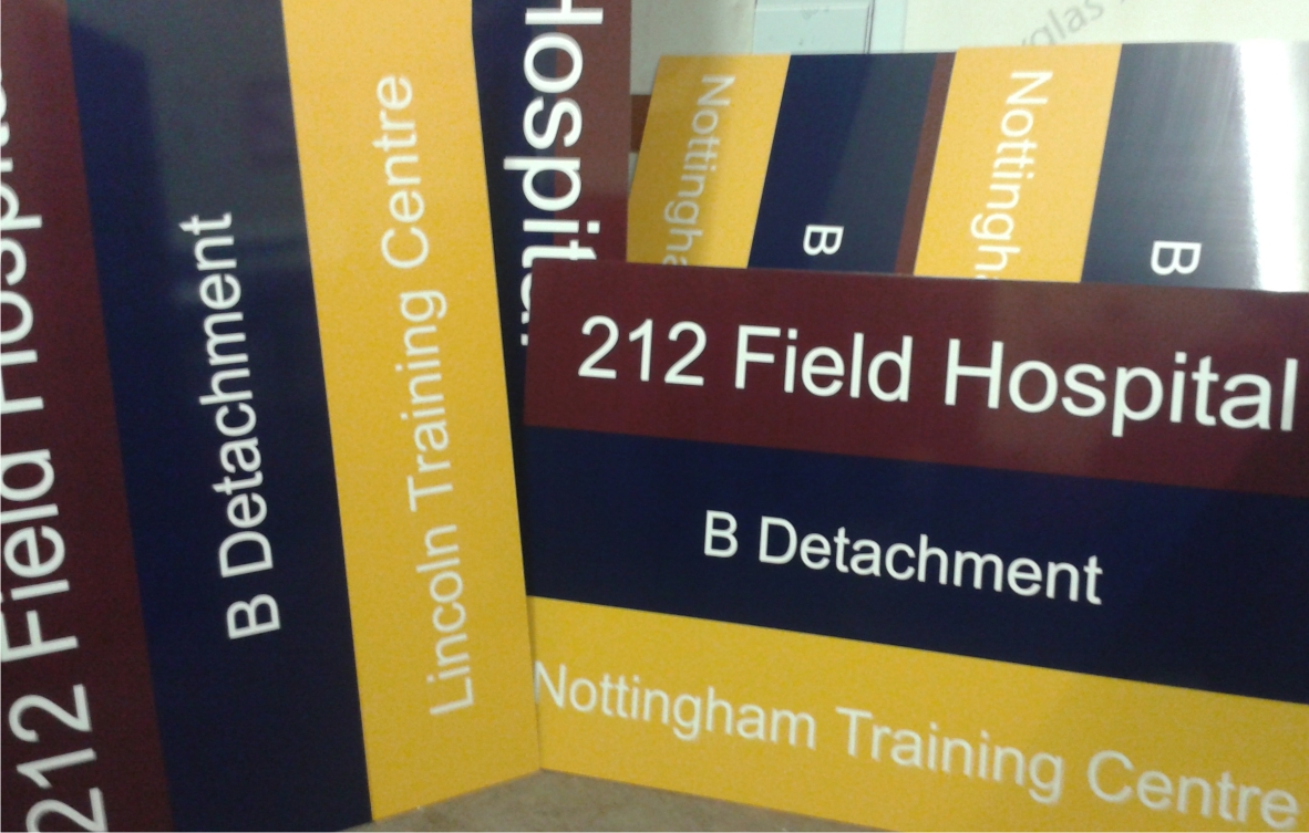 212 Field Hospital signs by M Signs