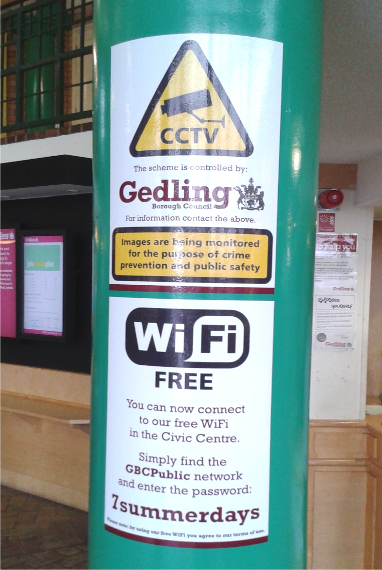 Digitally printed vinyl signs applied to Gedling Civic Centre