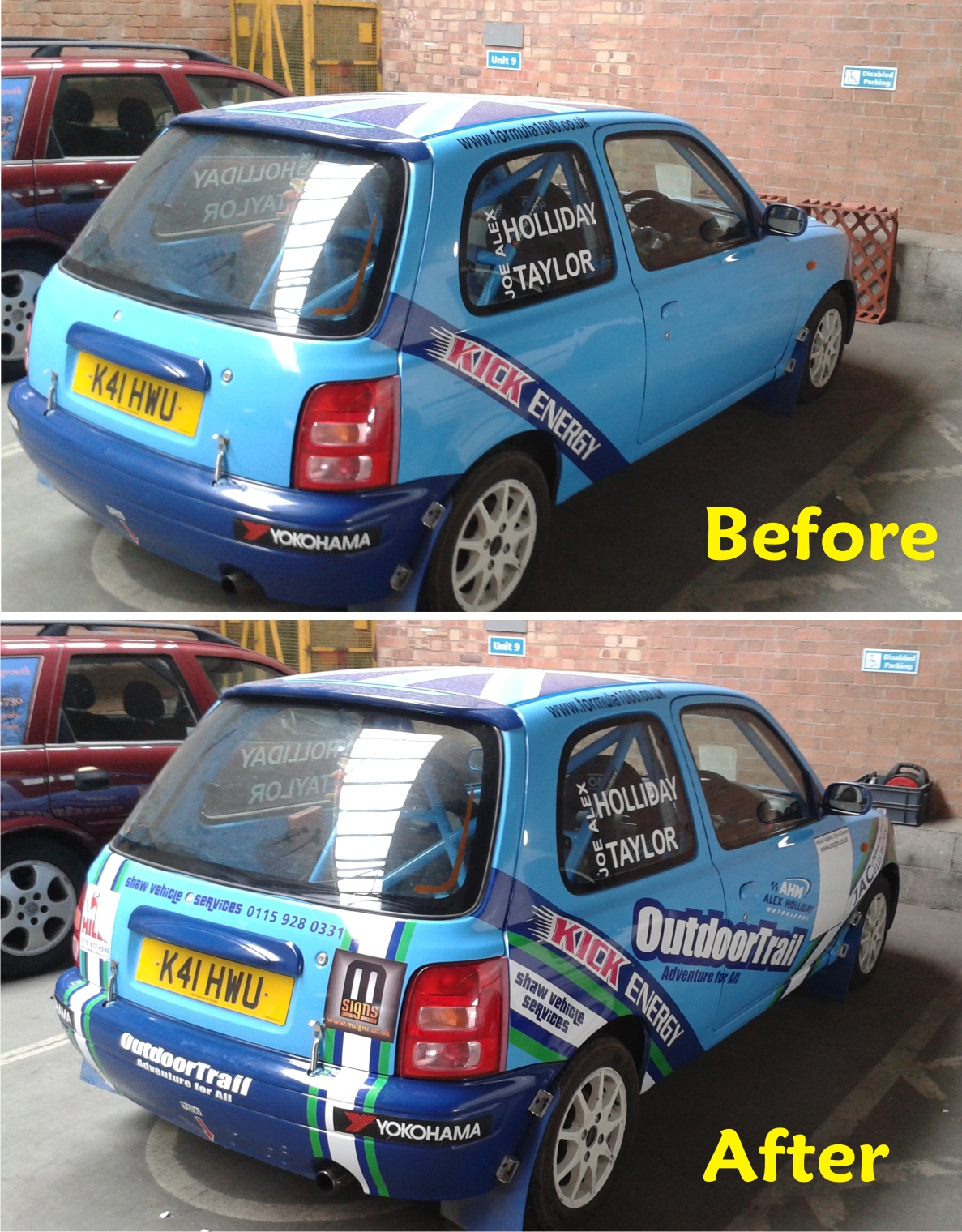 Rally car graphics by M Signs