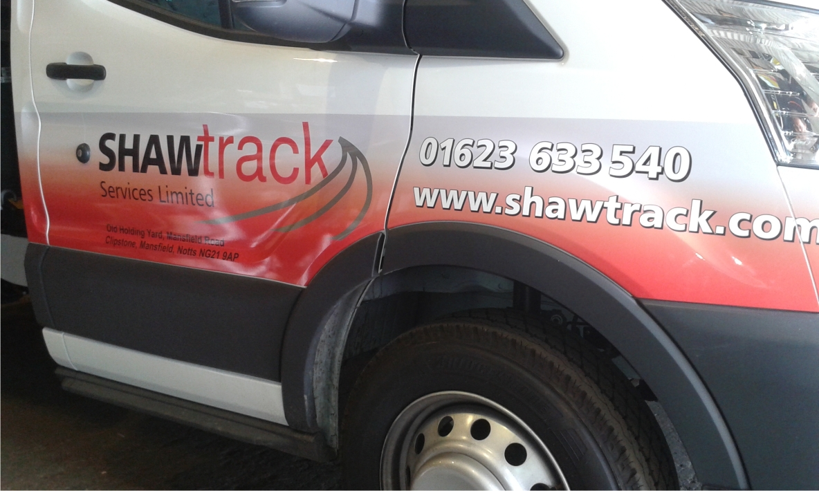Shawtrack digitally printed vehicle graphics