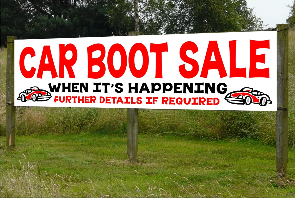 Car Boot Sale pvc banner