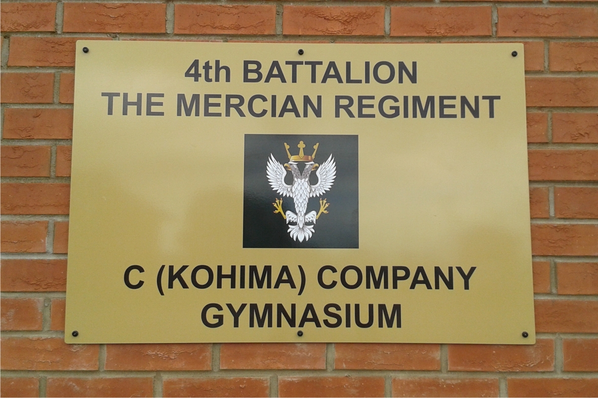 Mercian Regiment Gymnasium sign