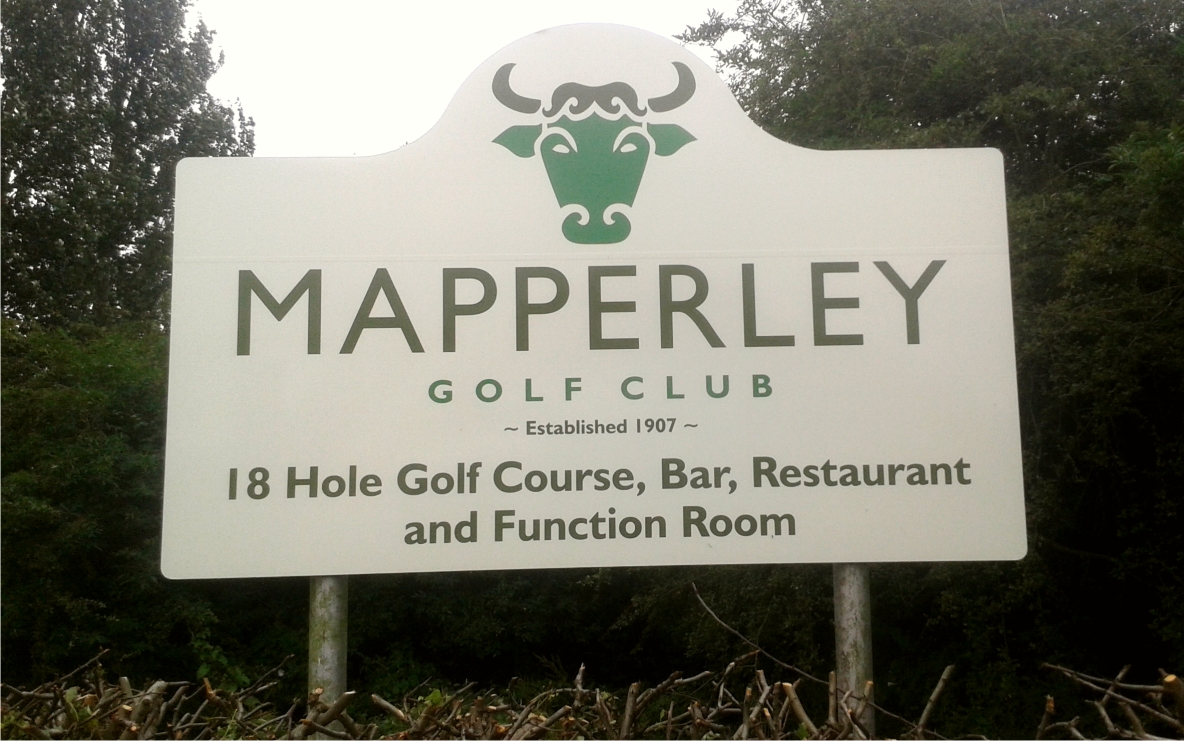 Mapperley Golf Club sign by M Signs