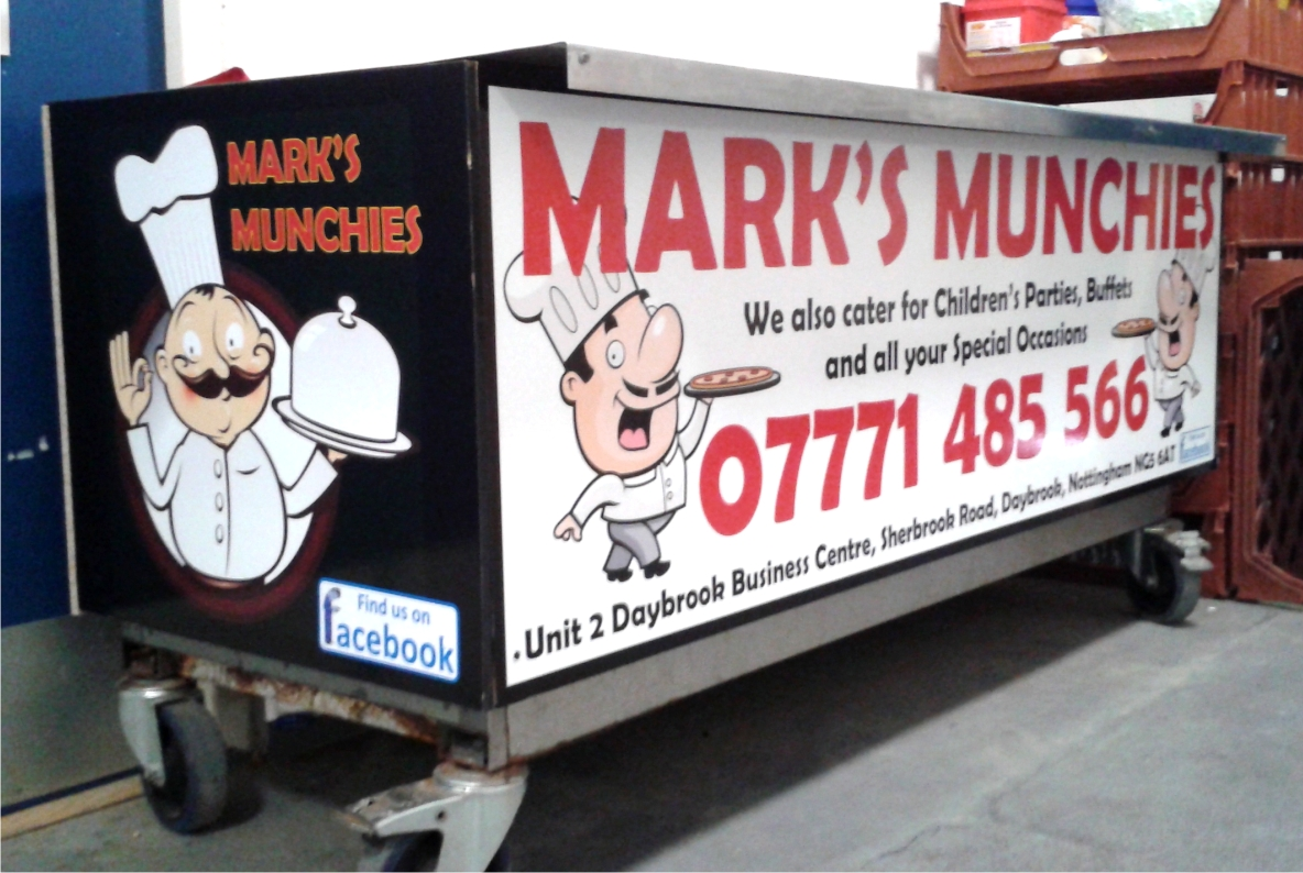 Digitally printed vinyls to catering unit
