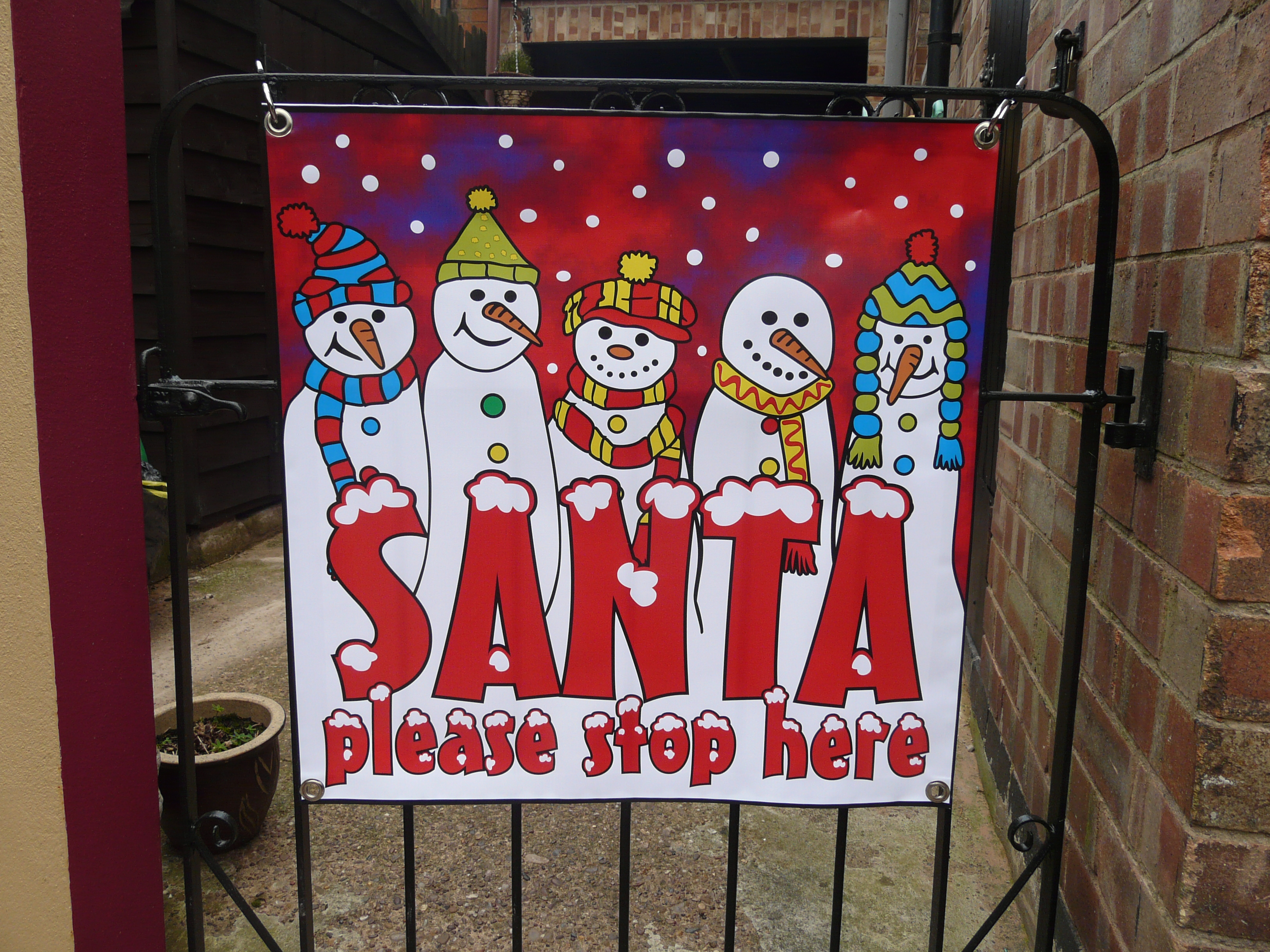 Childrens christmas banner