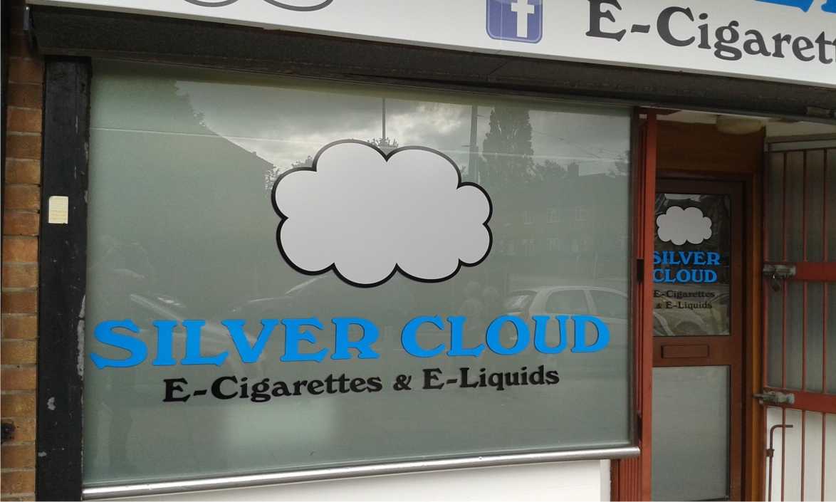 Window graphics in Clifton by M Signs for Silver Cloud