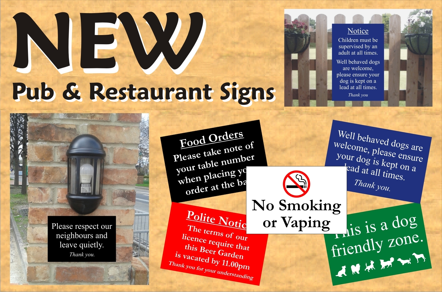 Pub & Restaurant Signs