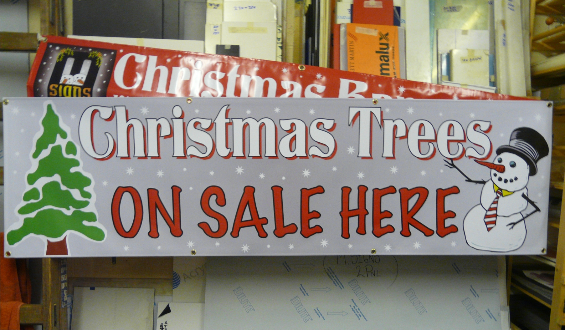Christmas Tree Sale banner