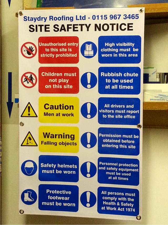 Site Safety Notice banner