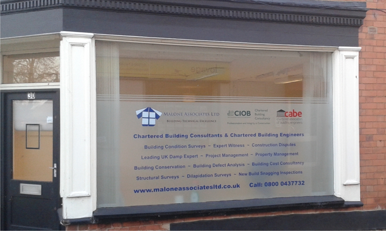 Window graphics in Kegworth by M Signs