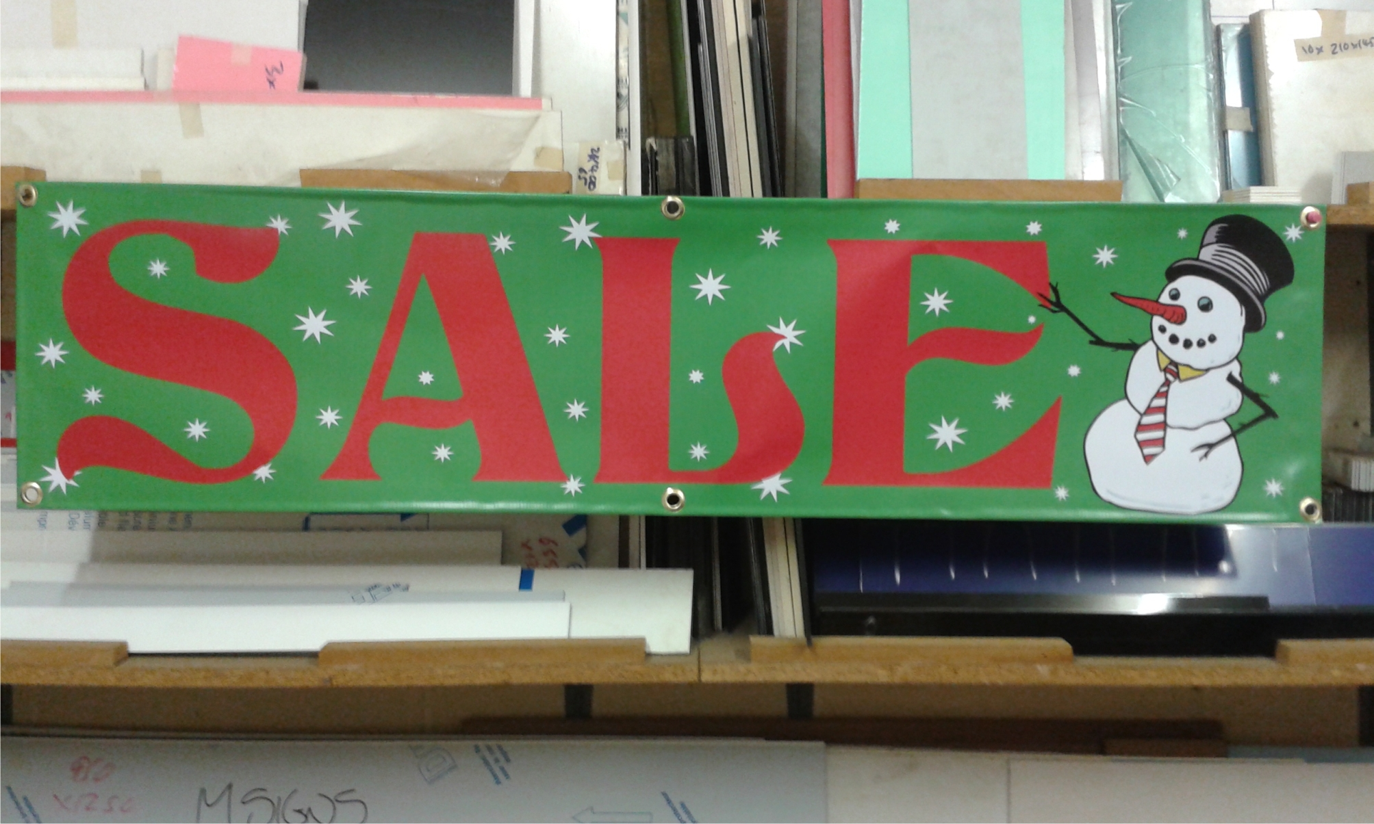 Christmas Sale banner green