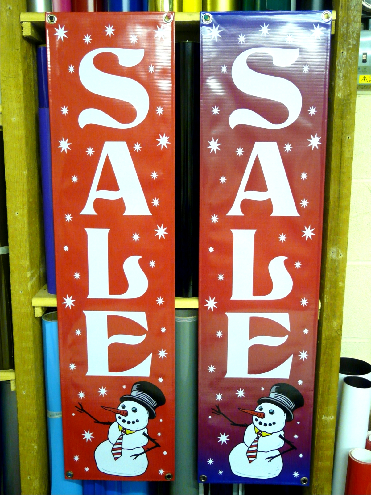 Xmas vertical Sale banner